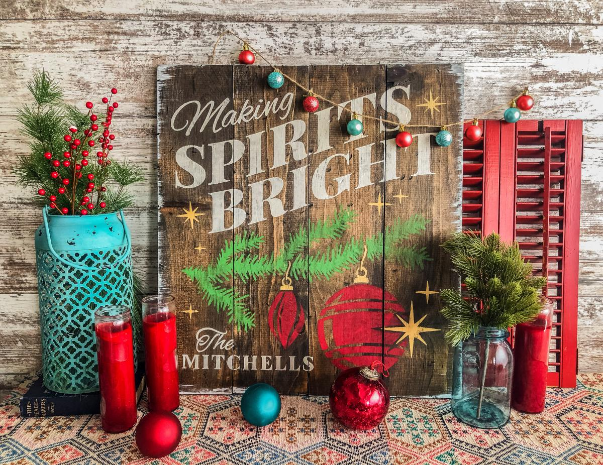 Making Spirits Bright Project from Board & Brush Creative Studio in Wellington