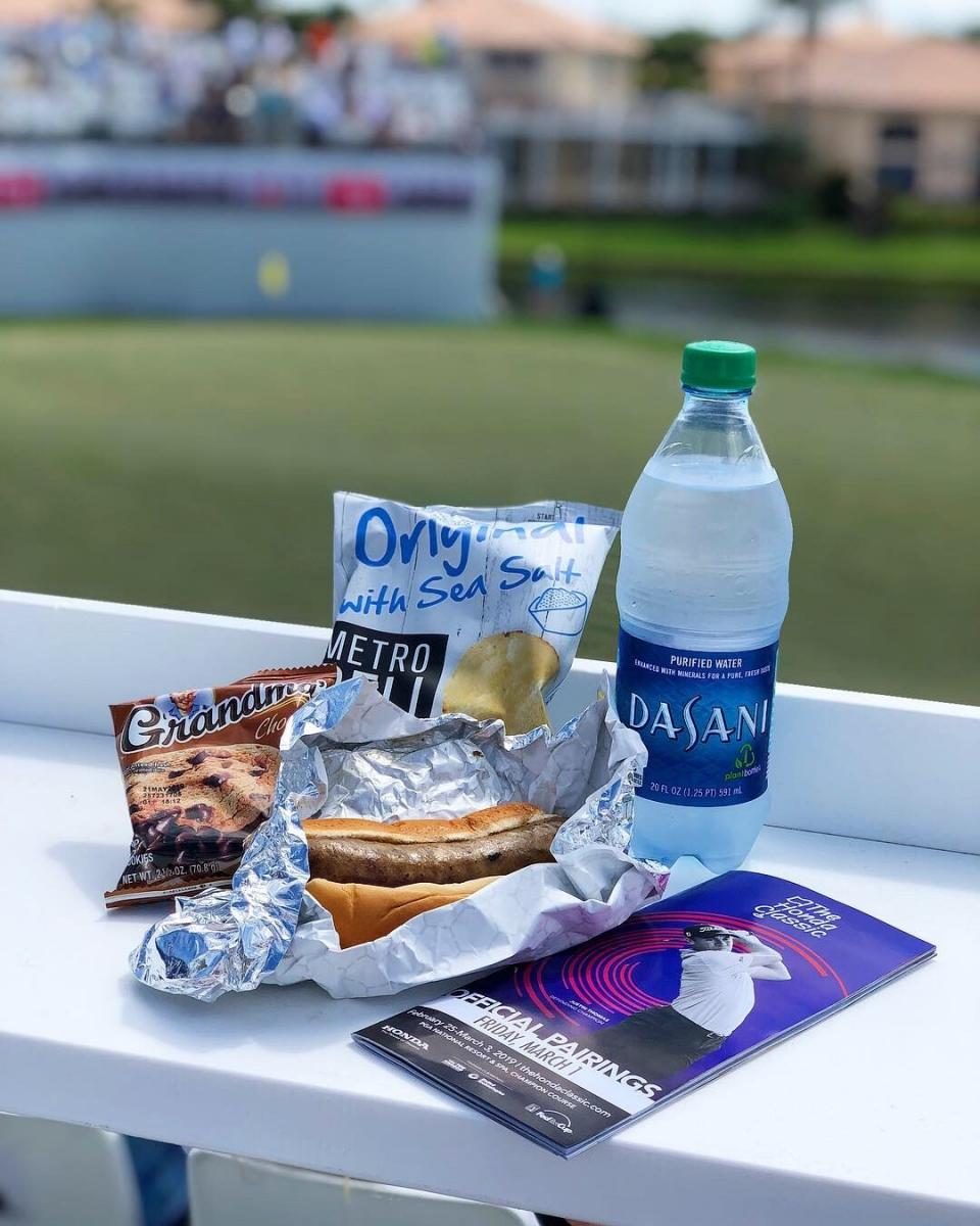 Concession items at the Honda Classic