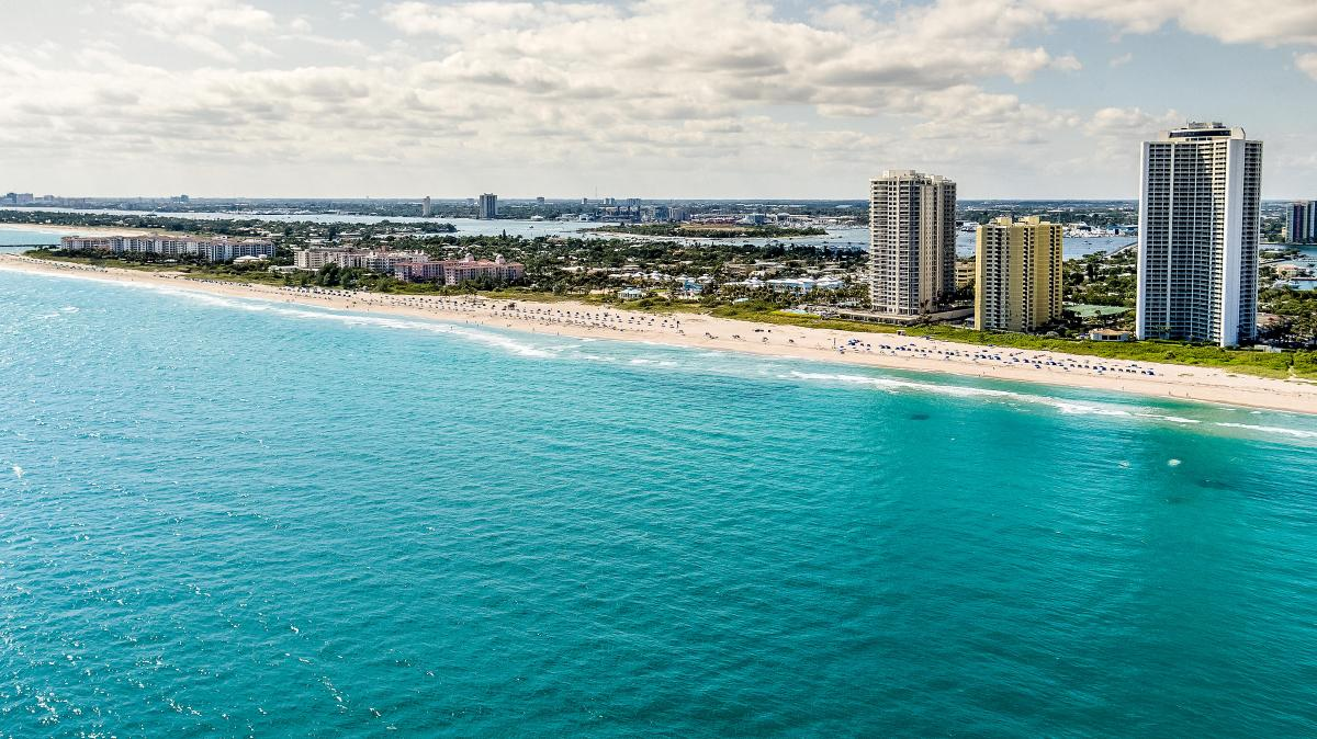 Aerial via of Singer Island