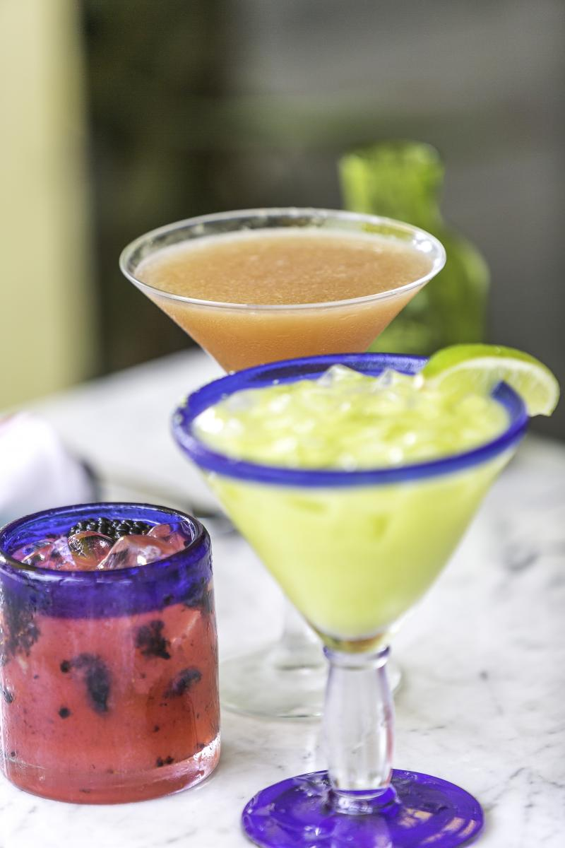 Colorful Margaritas on a table