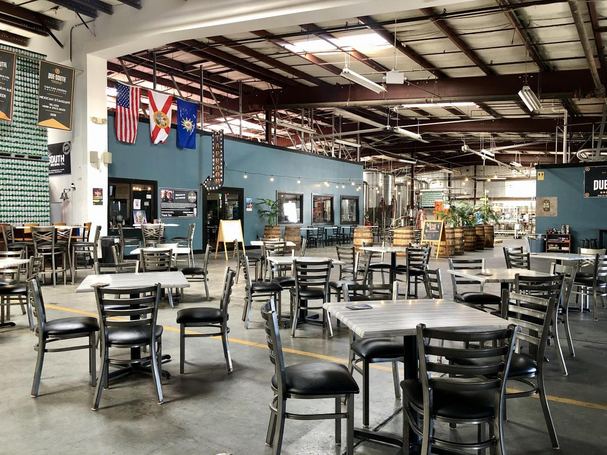 Tables and Chairs in the Due South Brewery