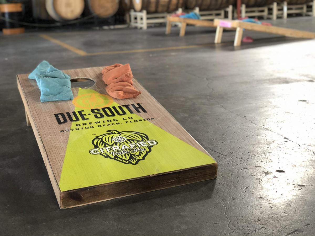 Corn Hole Board at Due South