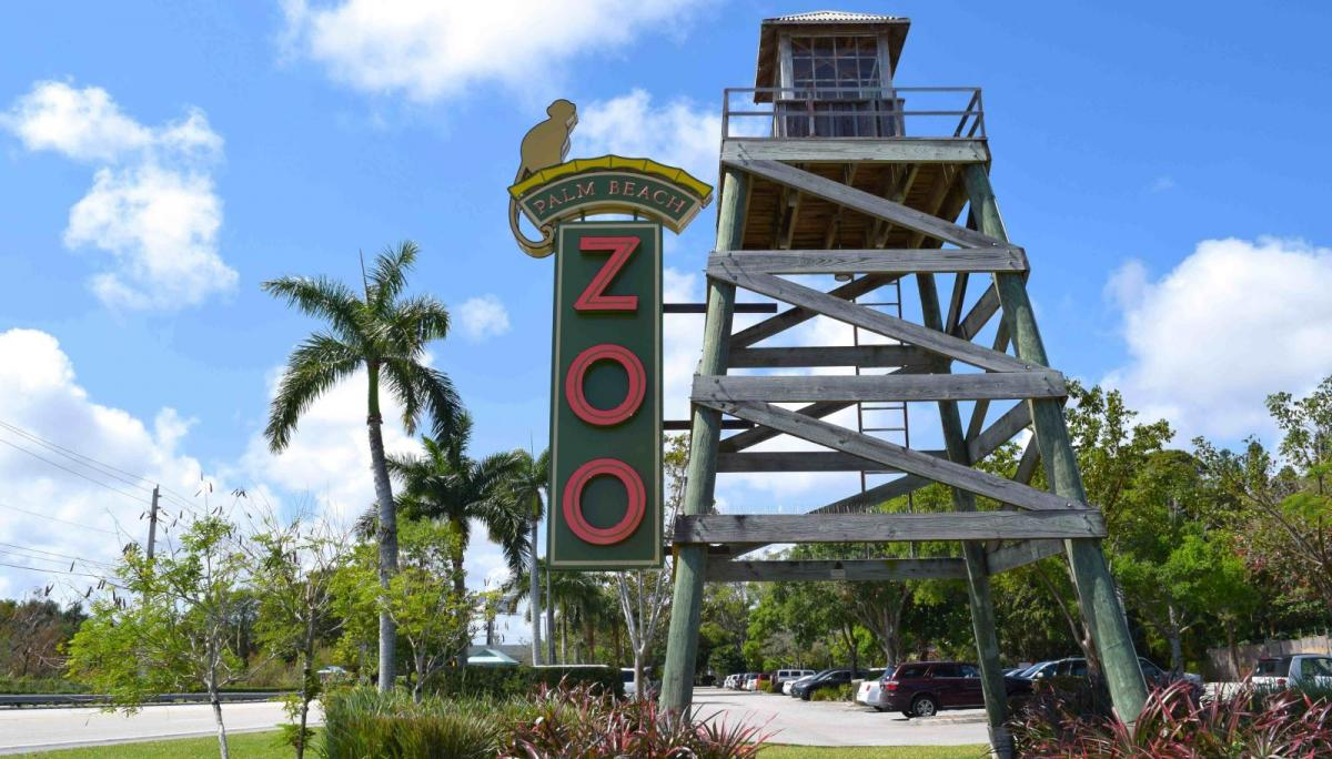 Palm Beach Zoo Entrada exterior