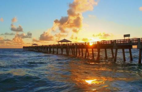 Juno Beach Fishing Pier Sun Rise
