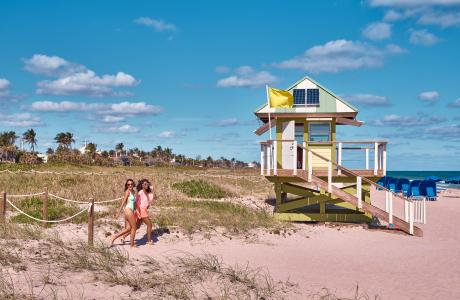 Lifeguard stand on Delray Beach