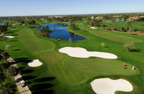 pga national resort vista arieal de campo de golfe