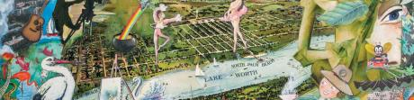 Whimsical map of The Palm Beaches