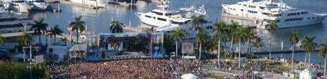SunFest Event crowd and boats