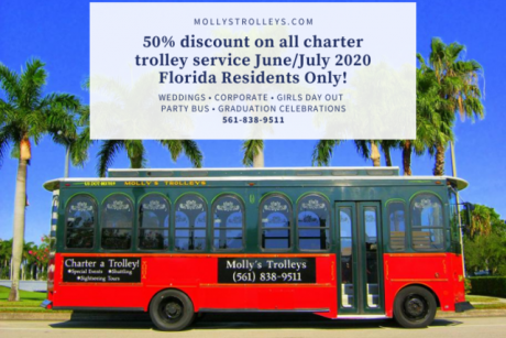 50% Off Chartered Trolleys June/July Molly's Trolleys