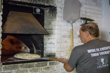 Lynora's pizza making