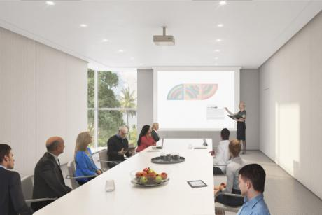 Pearson Boardroom - A new education center featuring a sleek boardroom and two versatile meeting rooms that will maximize the goals of your conference or business retreat.