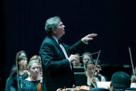 Palm Beach Symphony performs under the direction of Music Director Gerard Schwarz.