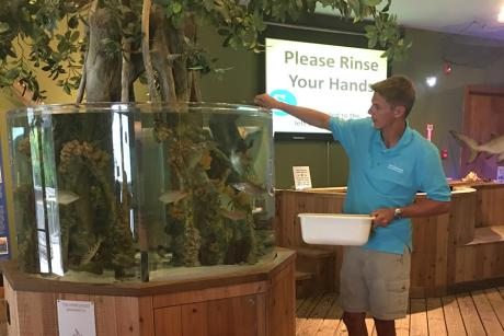 PUBLIC TOUR AND FISH FEEDING