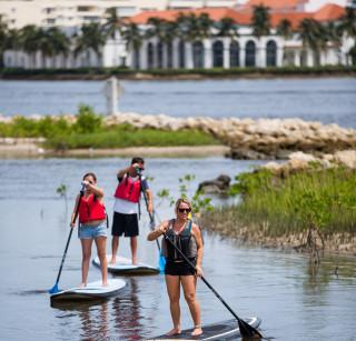 Paddleboarding with Visit Palm Beach