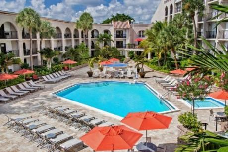 Boca Raton Wyndham Pool Overview - Boca Raton Wyndham pool overview image