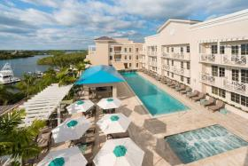 Wyndham Grand Jupiter at Harbourside Place The tranquil, refined accommodations include a rooftop pool