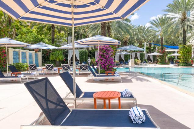 Poolside at the Hilton West Palm Beach