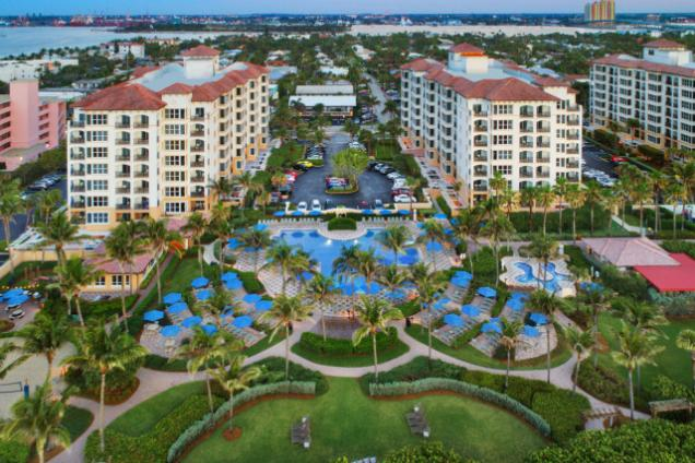 Resort Aerial - Marriott's Ocean Pointe resort. Get away to white sand beaches where a memorable vacation experience awaits.