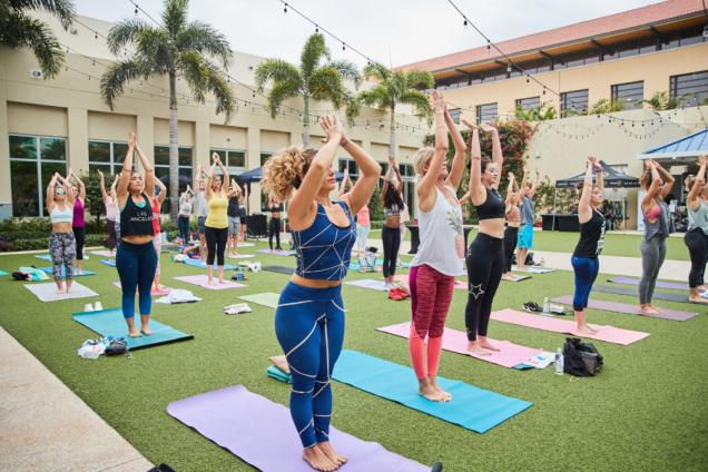Sip + Stretch Yoga at Hilton West Palm Beach