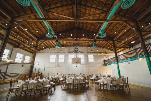 Fieldhouse - Wedding set-up!