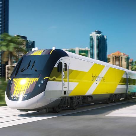 Brightline Train - One of many transportation options -  West Palm Beach