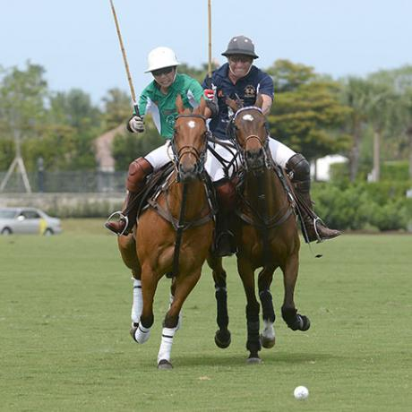 Le jeu de polo gai - Palm Beach Polo Club, Wellington, FL