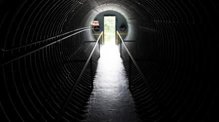 Tunnel that leads to Kennedy's Nuclear Shelter on Peanut Island