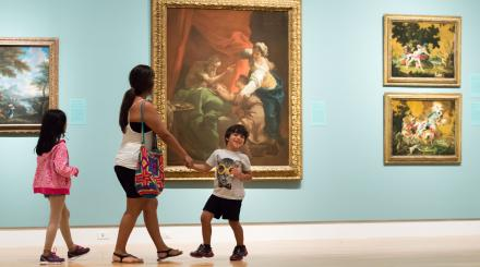 Family in the Norton Museum of Art, West Palm Beach