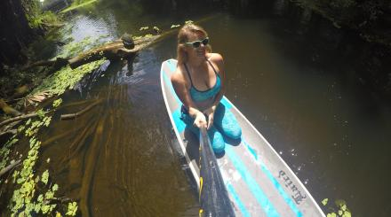 Mandy Mizell paddles the Loxahatchee River