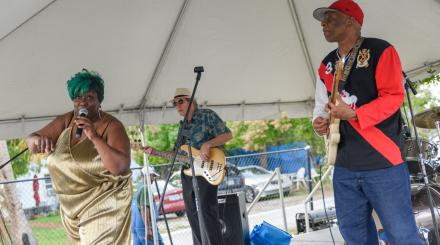 Pat 'Mother Blues' Cohen performing at the 2017 Spady Cultural Heritage Festival