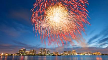 fireworks for 4th on flagler