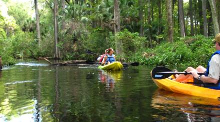Jupiter Outdoor Center kayaks