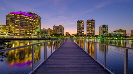 West Palm Beach skyline at night