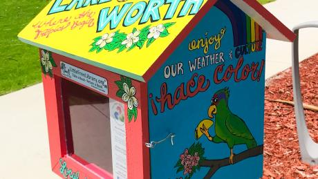 Painted little library in Lake Worth