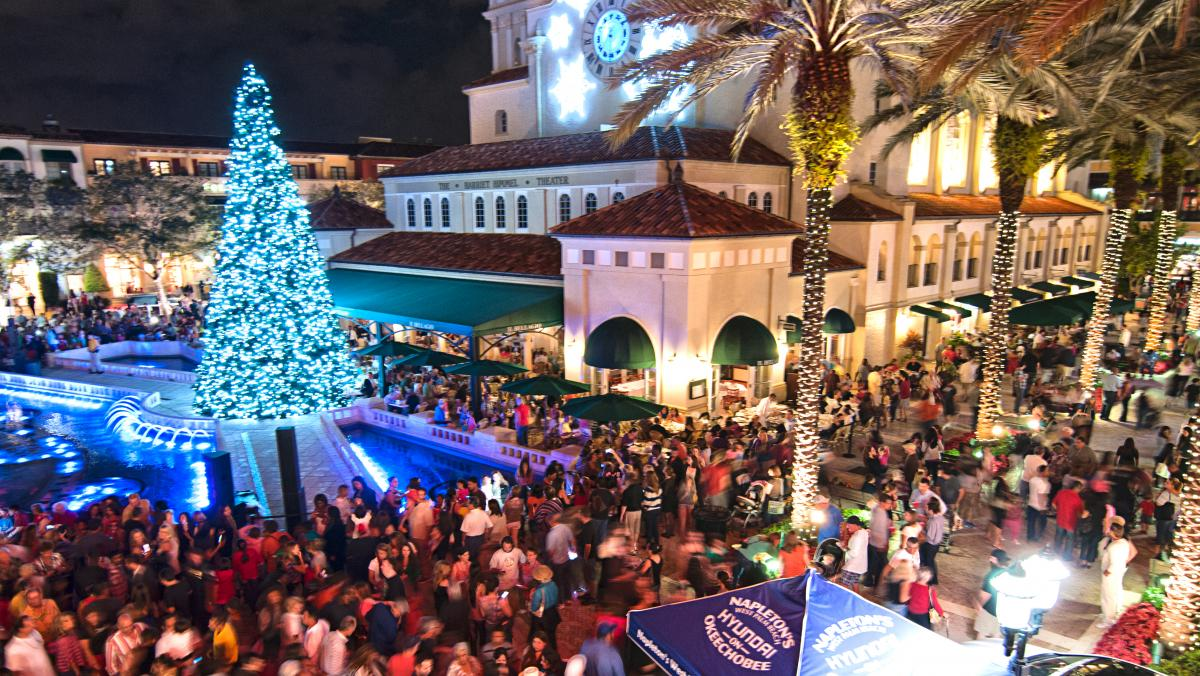 CityPlace tree lighting