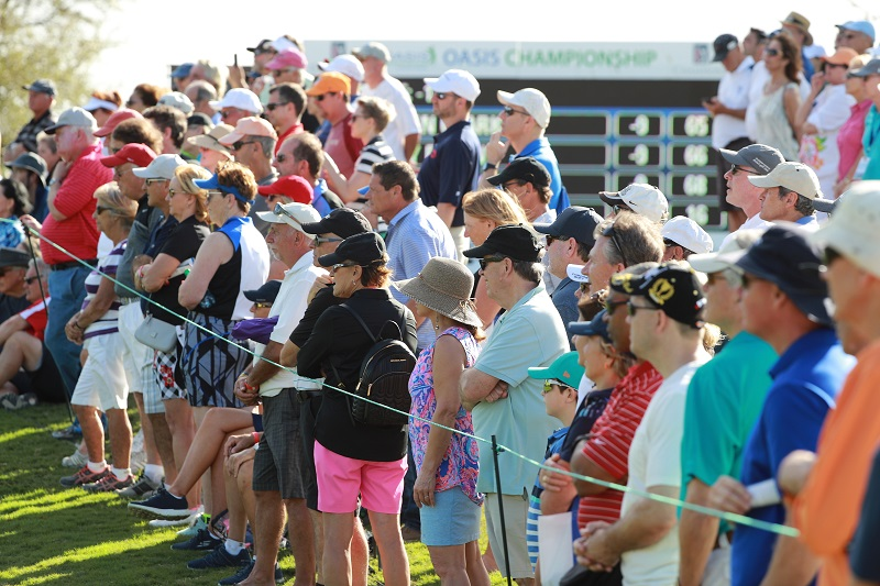 Crowd at Oasis Championship.  Photo by Scott Halleran