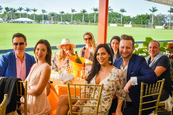 Brunching at a Polo match