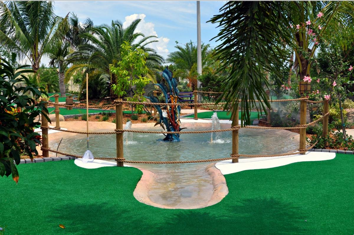Mini- Golfplatz in Delray Beach