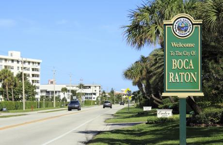 Boca Raton Welcome Sign