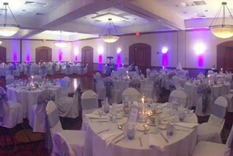 Wedding Reception - White Linens- check!  Dance Floor - Check!