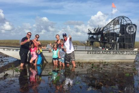 Everglades Swamp Tours - Fun Family Day!!  Sliding across the Florida Everglades sawgrass to standing in the swamp!!