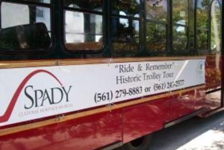 ""\u0022Ride & Rememberu0022 Trolley Tour - Ride and Remember Trolley Tour 10-12 p.m. Second Saturday of each Month $25 per person Location: At the Spady Museum When you board the """"Ride & Remember"""" Trolley Tour, the history of Delray Beach comes alive! Illustrated with colorful stories of the personalities and happenings that influenced the growth of the city, the tour does more than relay facts – it draws the riders back in time. Climb aboard The Spady Cultural Heritage Museum's popular, monthly """"Ride & Remember"""" Trolley Tour and enjoy the interactive, personalized stories of Delray Beach's interesting origins and development.  Funded by State of Florida Division of Cultural Affairs, Visit Florida, Palm Beach County, Tourist Development Council, and Cultural Council of Palm Beach County""460|307|?|en|2|cc654937bab1340e39561808be910ff8|False|UNLIKELY|0.29850146174430847
