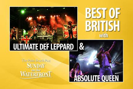 """THE PALM BEACH POST SUNDAY ON THE WATERFRONT - """"Best of British"""" (Tribute to Queen/Def Leppard)"""