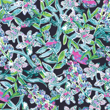 Lilly Pulitzer small floral illustrated pattern