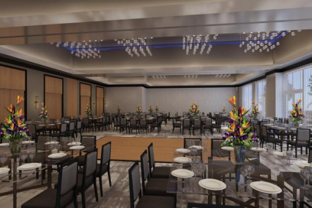 Aloft Delray Beach Ballroom - 4,300 sq. ft .ballroom with 18 foot ceiling. Custom menu options. Attentive planners and staff.