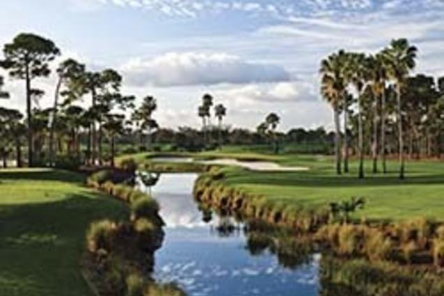 PGA National Champion Course 3rd Green and Lake