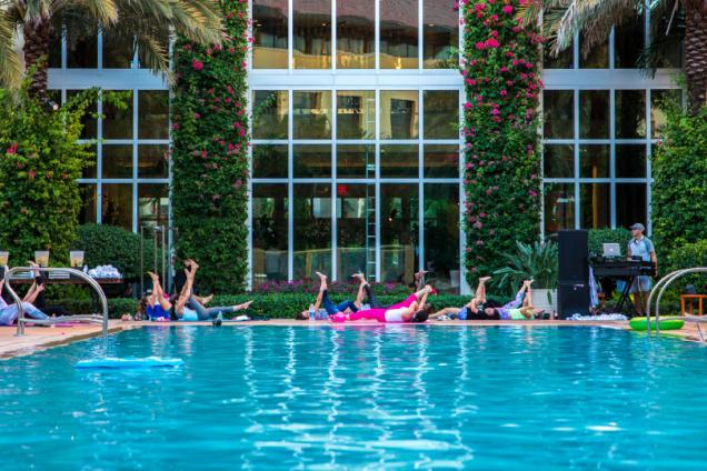 Poolside Pilates at Hilton West Palm Beach