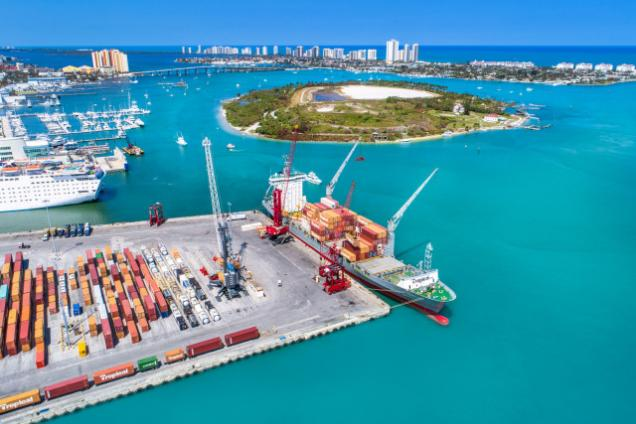 Aerial View of the Port of Palm Beach