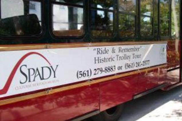 """""""Ride & Remember"""" Trolley Tour - Ride and Remember Trolley Tour 10-12 p.m. Second Saturday of each Month $25 per person Location: At the Spady Museum When you board the """"Ride & Remember"""" Trolley Tour, the history of Delray Beach comes alive! Illustrated with colorful stories of the personalities and happenings that influenced the growth of the city, the tour does more than relay facts – it draws the riders back in time. Climb aboard The Spady Cultural Heritage Museum's popular, monthly """"Ride & Remember"""" Trolley Tour and enjoy the interactive, personalized stories of Delray Beach's interesting origins and development.  Funded by State of Florida Division of Cultural Affairs, Visit Florida, Palm Beach County, Tourist Development Council, and Cultural Council of Palm Beach County"""