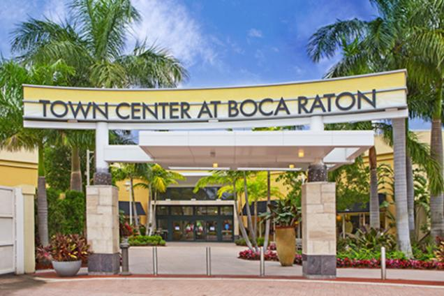 Town Center - Boca Raton, FL - A Shopping Mall in the Southeastern Coast of Florida Town Center at Boca Raton, Florida is owned by Simon Property Group and carries over stores. Terrace at Town Center is an expansion addition completed in is located between Nordstrom and Bloomingdales.